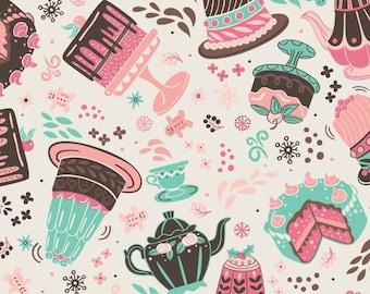 Cakes in Cream, Ginger Bread, 42170105, col 2, Camelot Fabrics, 100% Cotton, (Reg 5.29 -22.95)