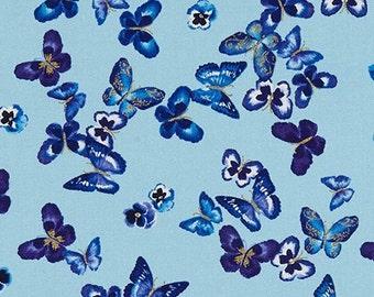 Butterfly, pansy, Butterfly Jewel, Kanvas, Benartex, Style 08866M, cotton, cotton quilt, cotton designer