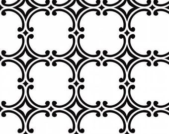 Opposites Attrack, medallion, 4141309, Camelot Cotton, white, black, multiple quantity cut in one piece, 100% Cotton