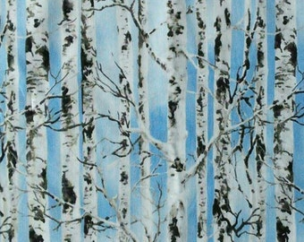 Birch, blue sky background, 5350, Timeless Treasures, cotton, cotton quilt, cotton designer
