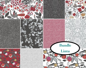 Bundle, 10 prints, Lintu, Camelot Fabrics, 100% Cotton, quilt cotton