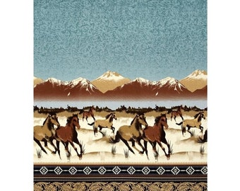 Horses, Round up border, Michael Miller, CX6769, 100% Cotton
