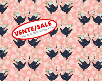 SALE, Birds, 29180202, col 03, Mistic Cranes, Camelot Fabric, quilt cotton, (Reg 3.76-21.91)
