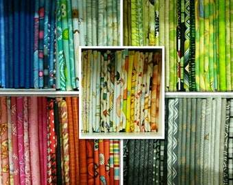 Kit of 10, 100% cotton, Various patterns, quality quilting, cotton designer, photo in a example, (Reg 37.60-194.90)