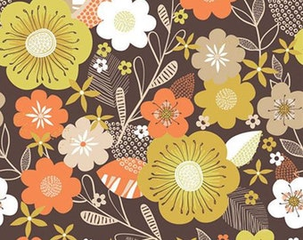 Blooms, brown, 91180101, Flower Market, Camelot Fabrics, 100% Cotton