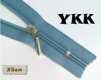 YKK, 25cm, Blue jeans, Zipper, Cursor 3C, 7 Inch, Metal Slider, Zipper, Non-Detachable, vintage, 1980, Z100, (Reg 3.49)