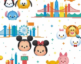 Tsum Tsum, Disney, Springs Creatives, CP64250, 100% Cotton, quilt cotton