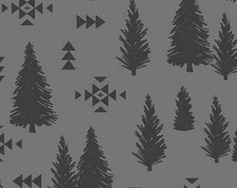 Tree Pine, Trees, Gray, Timberland, 10333, Riley Blake, cotton quilt, cotton designer, (Reg 3.76-21.91)