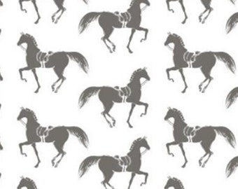 Riding Club, horse, white, grey, 26190105J, col 01, Camelot Fabrics, cotton, cotton quilt, cotton designer