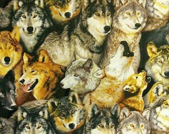 Wolf, Elizabeth's Studio, 186, multiple quantity cut in one piece, 100% Cotton, (Reg 2.99 - 17.99)
