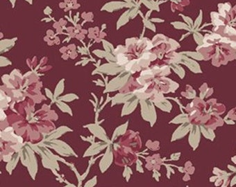 Flower, Dorothea, Laura Ashley, The Hunterhill, 71180101, col 01, Camelot Fabrics, 100% Cotton, (Reg 2.99-17.99)