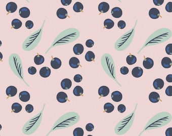 Blueberries, Berry Blossoms, 29170304, col 01, Camelot Fabrics, 100% Cotton, quilt cotton, (Reg 2.99 - 17.99)