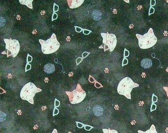 Cat, glasses, Joann, 100% Cotton