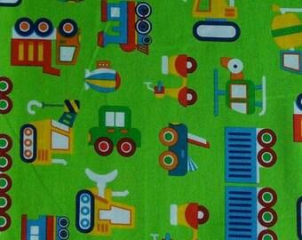 Truck, green, Rainbow, cotton quilt, cotton designer
