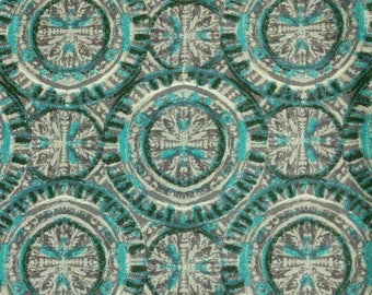Teal, gray, Édition Fabric, multiple quantity cut in one piece, 100% Cotton