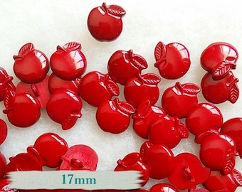 6 buttons, 17mm, Red, Apple, BF09