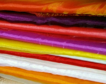 By the yard, Organza, tissu léger, brillant, transparent. Pour la décoration, emballer les cadeaux, 140cm, 58 pouces