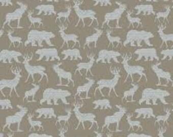 Mountain silhouette, gray, Modern Lodge, 6964, col 70, Benartex, cotton, cotton quilt, cotton designer