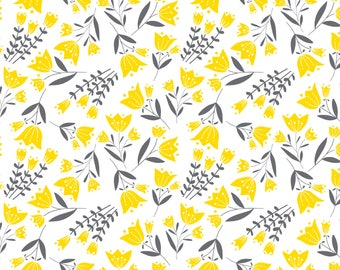 Tulip, Flutter & Buzz, 6141802-03, Camelot Fabrics, multiple quantity cut in one piece, 100% Cotton