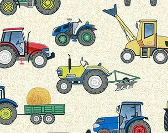 Tractor, 2296Q, Village Life, Makower, cotton, cotton quilt, cotton designer