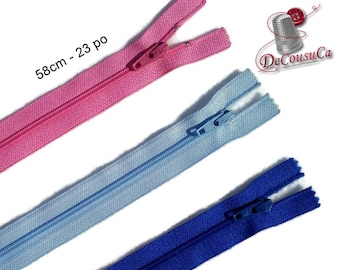 YKK, 58cm, zipper, #3, (23 inchs), varied color, nylon, perfect for clothing, repair, creation, Z58