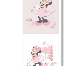 Panel, 2 prints, Minnie, 85270408P, Camelot Fabrics, 100% Cotton