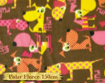 Dogs, brown, yellow, pink, cloth, 150cm, anti-pilling, fleece,