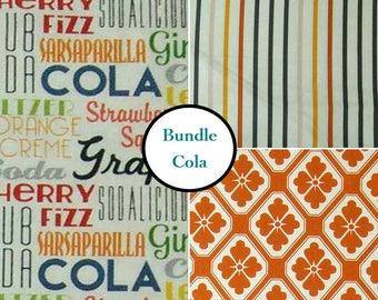 3 prints, Cola, Michael Miler, Bundle, 1 of each print, 100% coton
