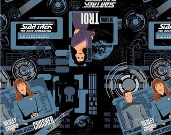 Star Trek, The Next Generation, 6320104, col 01, Camelot Fabrics, cotton, cotton quilt, cotton designer