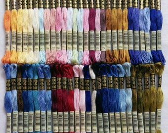DMC, 741-833, Embroidery, thread, DMC, Mouliné 25, art 117 No. 25, 8 meters each skein, cotton