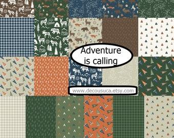 Bundle of 21 prints, Adventure is Calling of Riley Blake