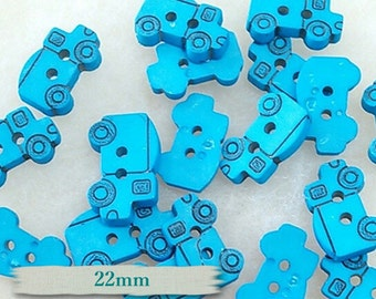 6 buttons,  22mm, Blue royal, Truck, BF16