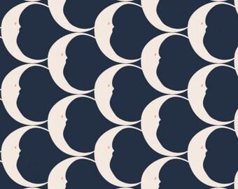 Crescent, navy, Night Circus, 29180307L, col 02, Camelot Fabrics, cotton, cotton quilt, cotton designer