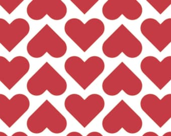 Red heart, white background, XOXO, 21190707, col 01, Camelot Fabrics, cotton, cotton quilt, cotton designer