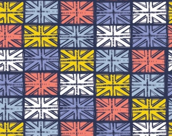 SALE, Flag, Multi, blue, From London with Love, 30170104, 02, Camelot Fabrics, cotton, cotton quilt, cotton designer, (Reg 3.76-21.91)