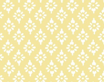 Hannah geo, yellow, 71180306, col 02, By The Sea, Laura Ashley, Camelot Fabrics, 100% Cotton, (Reg 2.99-17.99)