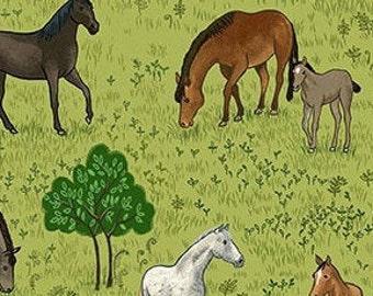Horse, Village Life, 2295, Makower, cotton, cotton quilt, cotton designer