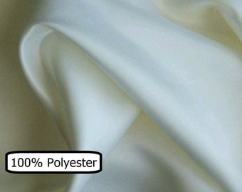 """COUPON, 36""""x90"""", 100% polyester, white bone, very tight weave, 60 """"wide, (150cm), washable,, (Reg 15.29)"""