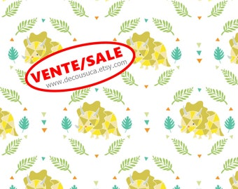50%, Triceratops, 6141706-01, You are Dino-Mite, Camelot Fabrics, multiple quantity cut in one piece, (Reg 3.76-21.91)