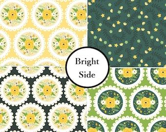 VENTE, Kit 4 prints, Bright Side, Camelot Fabrics, 1 of each print, Bundle, collection