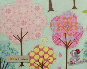 Trees, blue, Dena Design, Free Spirit, multiple quantity cut in one piece, 100% Cotton