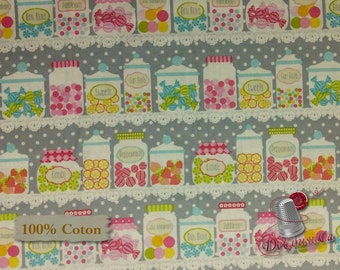 Candy, Cupcake Cafe, Laura Stone, #3891, Studio e, multiple quantity cut in one piece, 100% Cotton,, (Reg 2.99 - 17.99)