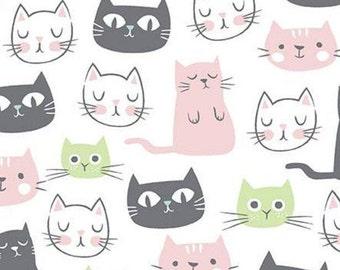 WHITE, Cat, Purrfect Day, 9900, Riley Blake, cotton quilt, cotton designer