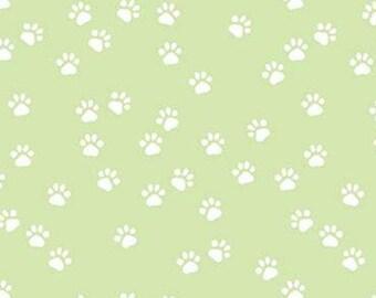 GREEN, Paws, Purrfect Day, 9905, Riley Blake, cotton quilt, cotton designer