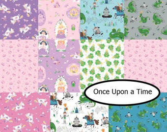 Bundle 11 FQ, Once Upon a Time, Camelot Fabrics, 100% coton