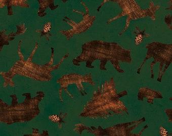 Forest animals, beige, 7751, Riley Blake, fabric, cotton, quilt cotton