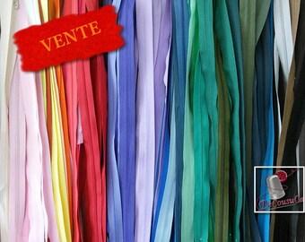 25 Zippers, KKF, Q, C, S, YKK, others, not detachable, varied color, varied size, 18cm-65cm, SURPRISE, K25, (Reg 20.00-40.)