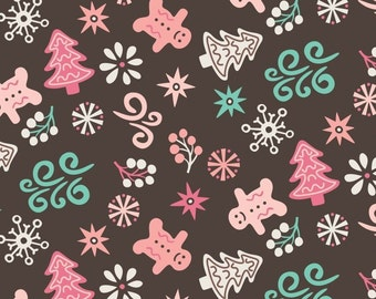 Cookies in Chocolate, Ginger Bread, 42170102, Camelot Fabrics, 100% Cotton, (Reg 2.99 - 17.99)