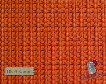 Red Brick Basket Weave, 457, Elizabeth's Studio, 100% Cotton