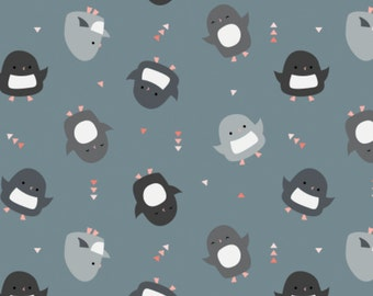 Pinguin, lead, 61170102, col 01, Oh What Fun, Camelot Fabrics, multiple quantity cut in one piece, 100% Cotton